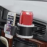 PYRUS 2 in 1 Auto Multifunktionale Unterstützung für Plastikbecher / Smartphone & Support Getränkehalter & Support Telefon / Flasche / Dose (grau)