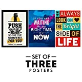 #9: Motivational Posters For Office And Study Room - Set of 3 Inspirational Wall Quotes| Home Decor | Home Decor | Size 12 x 18 Inch