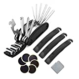 Bike Tyre Repair Kits - Beeway® Multifunctional Bicycle Repair Tool and Quick Puncture Repair Kit - 3 Tyre Levers, 6 Emergency Glue-less Patches and Metal Rasp