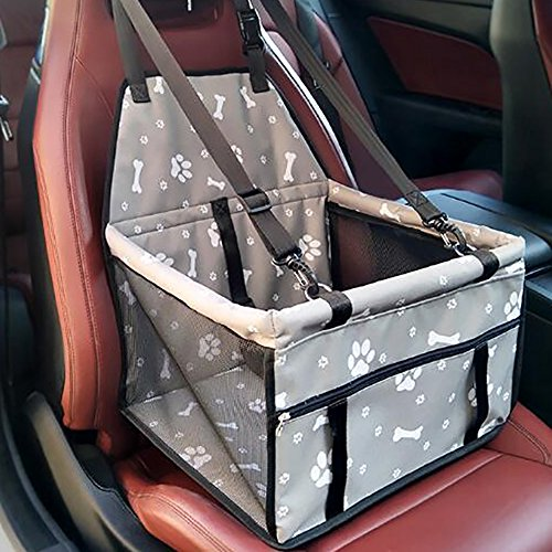 Haustier Hund Autositz Booster Carrier Protector Tasche Cage Cover Systond Wasserdicht Deluxe Portable Dog Booster Reise Carrier Cover Seat Protector mit Clip-On Sicherheit Lesh und Extra Support Rods (Träger Pet-booster)