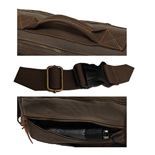 Vogstyle Vintage Reise Leinwand Schulter Crossbody Messenger Cylindrical Taschen Tote Travel Hike Coffee Coffee
