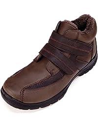 SHENBO - Zapatos de cordones para hombre marrón marrón oscuro, color marrón, talla 41 EU