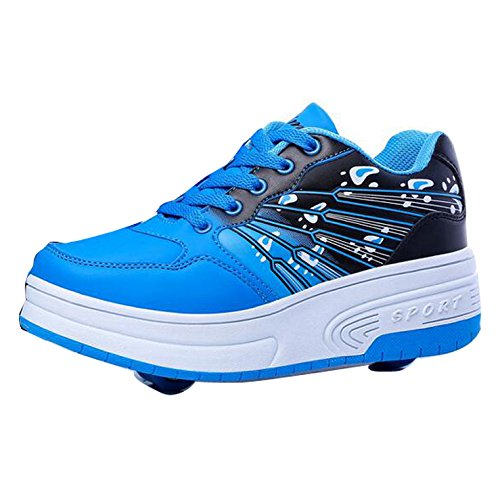 Gaorui Scarpe Sneakers bambino e bambina Unisex Adulto scarpe sportive pattini con le ruote