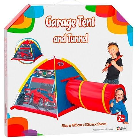 Cinco Estrellas tiendas de campaña al aire libre Carpa garaje y Túnel (rojo / azul / gris)