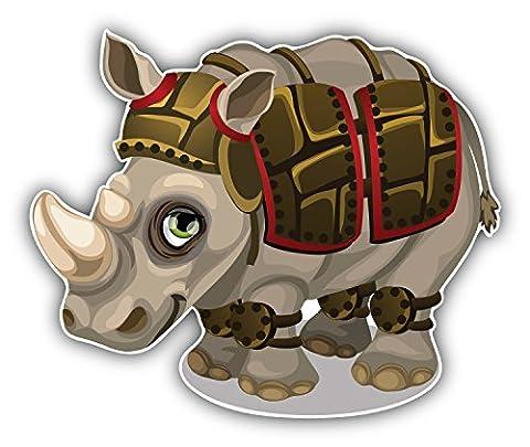 Funny Rhino Gladiator Autocollant Voiture Decoration de Vinyle 12 X 10 cm