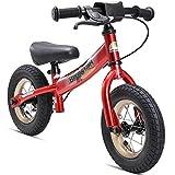 BIKESTAR Bicicletta senza pedali 2-3 anni per bambino et bambina ★ Bici senza pedali bambini con freno 10 pollici sportivo ★ Rosso