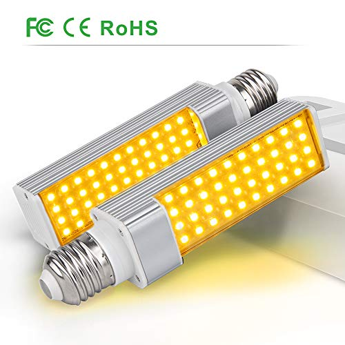 Relassy Pflanzenlampe E27, 2 Packungen Volles Spektrum Pflanzen Licht E27 Glühbirne Pflanze wachsen Licht für Zimmerpflanzen, Hydroponik, Gewächshaus (Y-2Pack)
