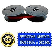olivetti Cinta de máquina de escribir letra 22-25-35 otros rojo y negro de tela de 2 rollos