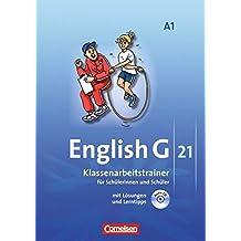 English G 21 - Ausgabe A: Band 1: 5. Schuljahr - Klassenarbeitstrainer mit Lösungen und CD