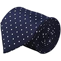 Modo Formal Ties For Men, Geometric Dark Blue Tie