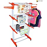 Synergy - Heavy Duty Double Pole Foldable Cloth Dryer / Clothes Drying Stand with Lifetime Warranty - SY-CS9
