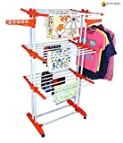 #7: Synergy - Heavy Duty Double Pole Foldable Cloth Dryer / Clothes Drying Stand with Lifetime Warranty - SY-CS9