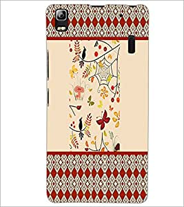 PrintDhaba Pattern D-4770 Back Case Cover for LENOVO A7000 (Multi-Coloured)