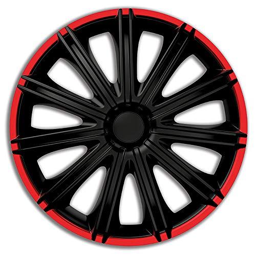AutoStyle PP 5114BR Satz Radzierblenden Nero R 14-Zoll Schwarz/Rot