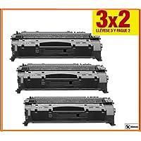 Offerta 3x 2Konver Toner CE505A para- stampante LaserJet P2035. Pack