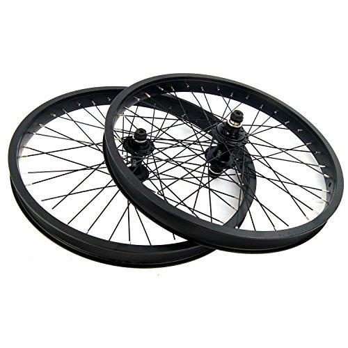 Tackle BMX 45,7cm Laufradsatz 9T Kassette Rad versiegelt vorne und hinten Buchse Achsen schwarz Freestyle