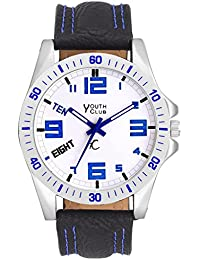 Youth Club Ultimate Urban Analog White Dial Boy's Watch-BLUE-RING