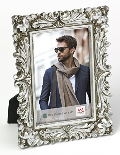 walther design Portraitrahmen Saint Germain, 10x15, silber