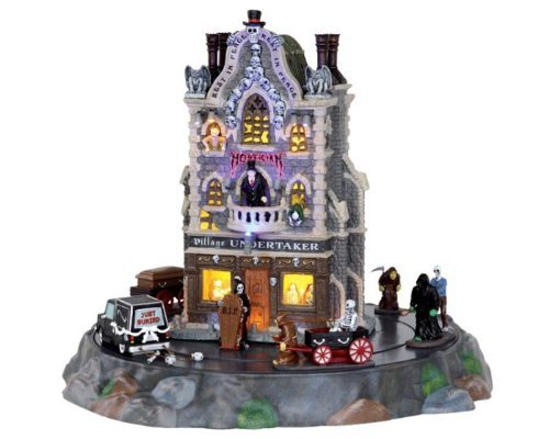 Price comparison product image Lemax Spooky Town Village Undertaker Set of 9 with Adaptor # 25335 by Lemax