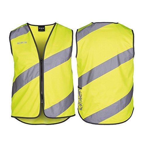 Wowow 016014 Sicherheitsweste mit hoher Sichtbarkeit, Größe M, gelb