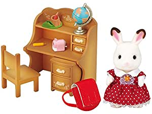 Sylvanian Families - 5016 -  lapin en chocolat sœur et accessories / chocolate rabbit sister set