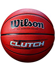 WILSON Clutch, Palla Basketball Unisex-Adulto, Marrone, 7