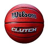 WILSON Clutch, Palla Basketball Unisex-Adulto, Marrone, 7