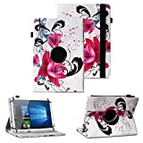 Vodafone Smart Tab 4 / 4G Tablet Schutzhülle Tasche Tablettasche Hülle mit Standfunktion 360° drehbar hochwertige Kunst-Leder Verarbeitung Cover viele Motive Universal Tablethülle Case , Farben:Motive 1