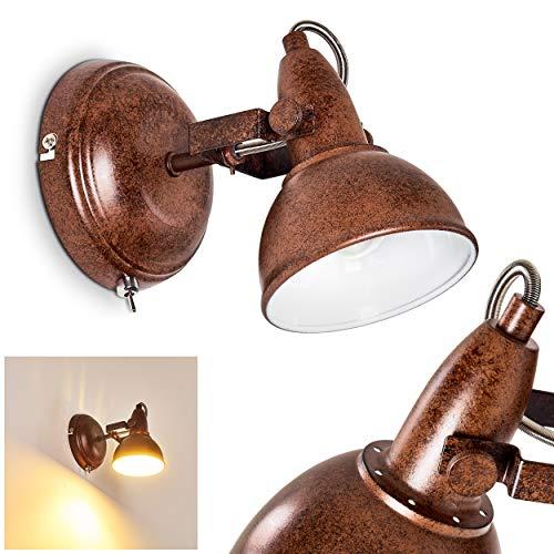Aplique Tina, de metal en marrón oxidado/blanco, 1 x E14, máx 40...