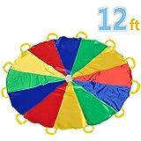 Juego del Paracaídas 12' con 12 asas para interior o exterior 3.50 m (niños de 6-12 años)