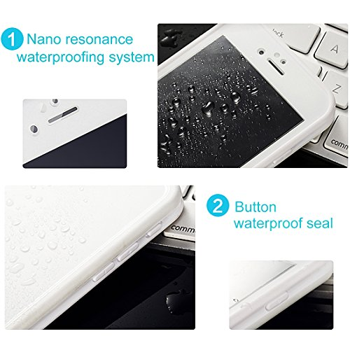 "Waterproof Case for iPhone 6s, HAWEEL? Certified Waterproof Shockproof Snow-proof Dirt-poof Protective Case for iPhone 6/6s 4.7""-White Black"