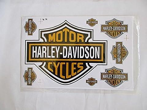 Wird am nächsten Tag versand ! Aufkleber Harley Davidson 1 Stück Aufkleberbogen 20 x 30 cm (Din A 4 Grösse)
