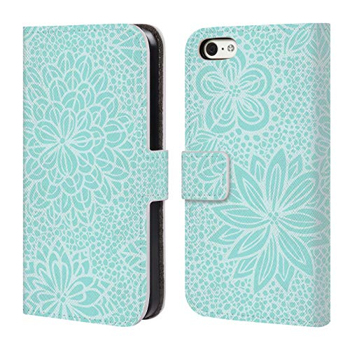 Official Julia Grifol Lovely Mosaic Garden Floral Leather Book Wallet Case Cover For iPhone 5c