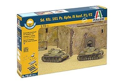 Italeri 510007514 - 1:72 Sonderkraftfahrzeuge 161, Panzerkampfwagen IV F1 Fast Assembly Kit von Italeri