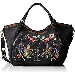 Desigual Bag Candem Rotterdam Women, Sacs portés épaule femme, Noir (Negro), 15x30x31 cm (B x H T)