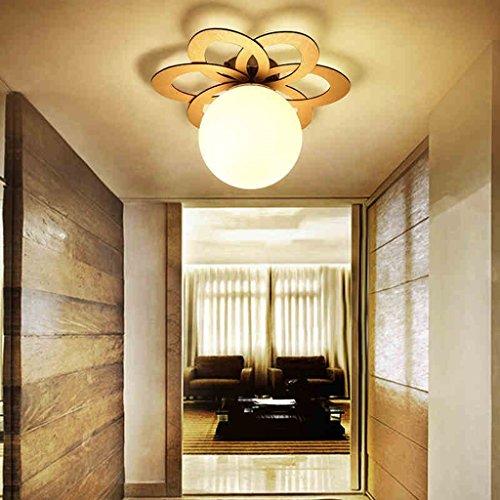YHJ Plafoniera Camera da letto della lampada giapponese di legno del ...