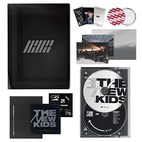IKON New Kids Repackage Album - THE NEW KIDS [ BLACK ver  ] 2CD + Photobook  + Lyrics Book + Photocard + Postcard + Sticker + Keyring + On Pack Poster