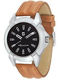 Geonardo's Addiction Black Dial Leather Strap Watch For Men And Boys-GDM012