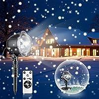 LED Proyección Proyección Navidad luces proyector bombilla con mando a distancia de caso de nieve efecto de luz ánimo iluminación para Navidad Party geburs Día boda