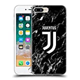 Head Case Designs Offizielle Juventus Football Club Schwarz 2017/18 Marmor Soft Gel Hülle für Apple iPhone 7 Plus/iPhone 8 Plus