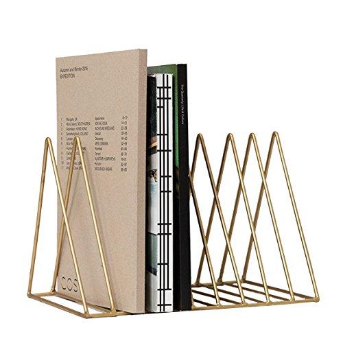 BKPH Schreibtisch Bücherregal Einfaches Tisch-Bücherregal Desktop-Speicherregale Dateiablage, L