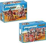 Playmobil Römer-Streitwagen + Römer-Angriffstrupp 2er Set 5391 5393