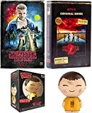 11 Eleven Exclusive Stranger Things Mystery Bundle: Benny's Burgers Upside Down Figure + VHS Set Season 1 & 2 DVD + Blu-Ray 10 Disc Box Special Edition Retro Package 3-Pack Combo Bonus Poster Bundle