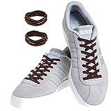 MAXXLACES Flache elastische Schnürsenkel mit einstellbarer Spannung in verschiedenen Farben Schuhbänder ohne Binden komfortable Schuhbinden einfach zu bedienen Past zu jedem Schuh (Brown)