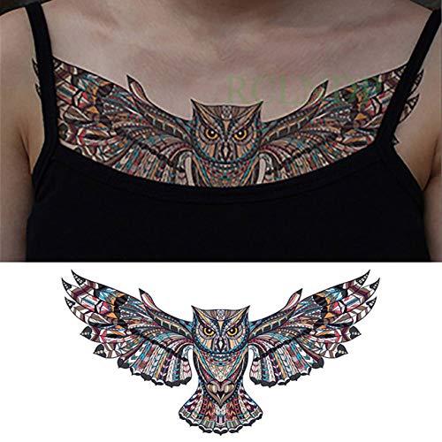 tzxdbh 3 Stücke-wasserdichte Tattoo Aufkleber Cool Tattoo Brust Taille Zurück Für Weibliche Mädchen Mann Big Size Tattoo 3 Stücke- -