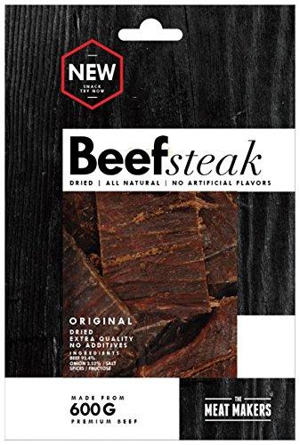 The Meat Makers Dried Beef Steak 200g - Premium Getrocknetes Rindfleisch - Beef Jerky … (Original)