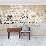 Vliestapete–Top Beton Wallpapers–Wandbild Landschaft Format Tapete Wand Wandbild xxl Foto Funktion 3D Tapete wall-art Tapete Wandmalereien Schlafzimmer Wohnzimmer, Dimension HxB: 190cm x 288cm, Motiv: Beton Mauer, Berthold Brecht