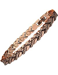 MPS® CAVVA Ladies best seller Copper Rich Magnetic Therapy Bracelet with clasp and 3,000 gauss Neodymium Magnets