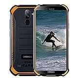 DOOGEE S40 Android 9,0 Télephone Portable Debloqué Incassable, 5,5' IP68 / IP69K Smartphone Etanche 4G Double SIM, 4650mAh, Cameras 8MP+5MP, 3GO RAM 32GO ROM, NFC Empreinte Digitale Face ID, Orange