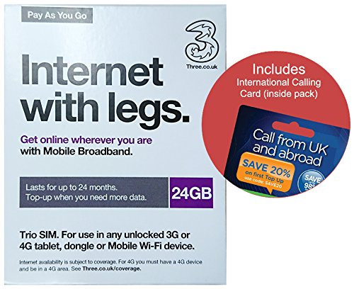 love 2 surf O2 Credit Bundles (4) Three 24GB Internet Data